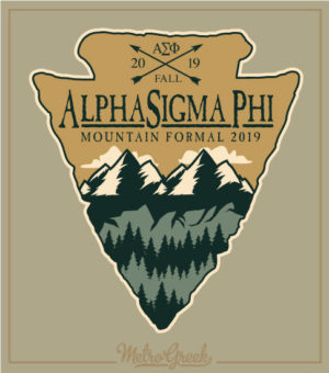 Fraternity Mountain Formal Arrowhead T-shirt