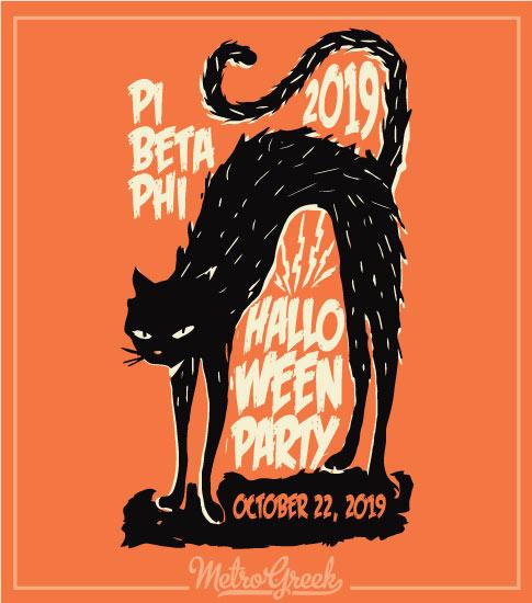 Pi Beta Phi Halloween Cat Shirt