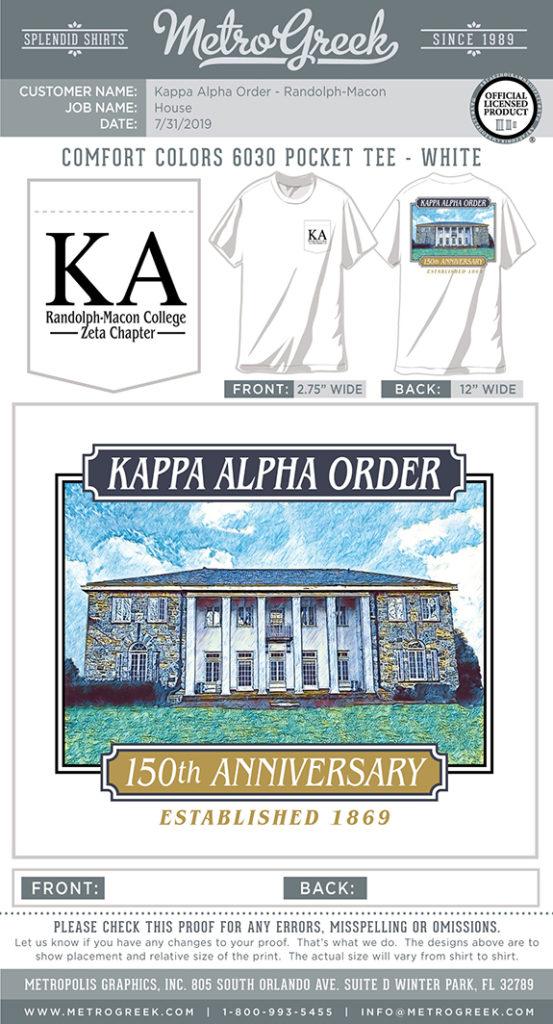 KA Chapter Anniversary Shirt