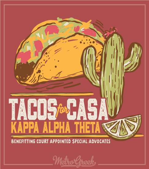 Kappa Alpha Theta Casa Fundraiser Shirt