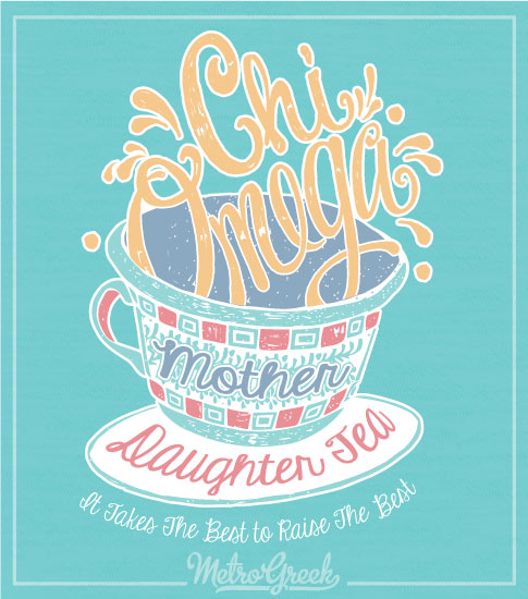 Mother Daughter Tea Shirt Chi Omega