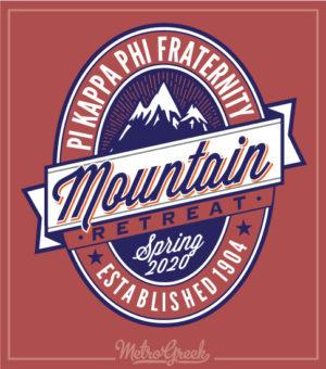 Pi Kappa Fraternity Mountain Retreat Shirt