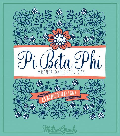 Pi Phi Mother Daughter Shirt