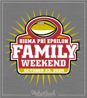Sig Ep Family Weekend Football Shirt