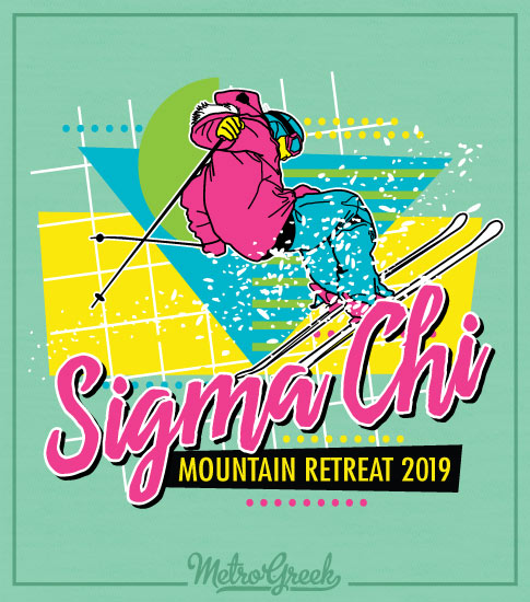 Sigma Chi Eighties Mountain Retreat Shirt