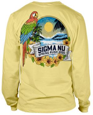 Sigma Nu Rush Shirt Parrot