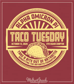 Taco Fundraising Shirt for Alpha Omicron Pi