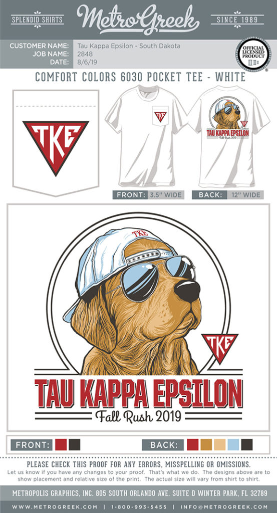 Teke Golden Retriever Rush Shirt