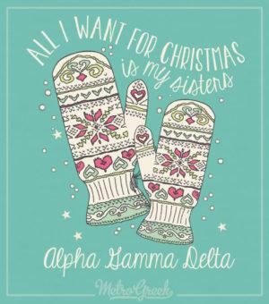 Alpha Gamma Delta Christmas Shirt