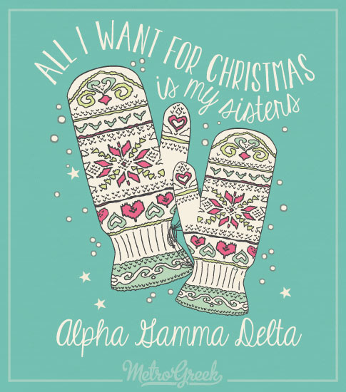 Alpha Gamma Delta Christmas Shirt