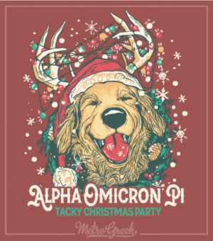 Alpha Omicron Pi Tacky Christmas Party Shirt