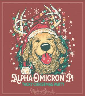 Alpha Omicron Pi Tacky Christmas Party Shirt