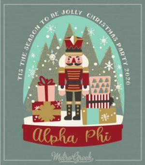 Alpha Phi Snow Globe Shirt