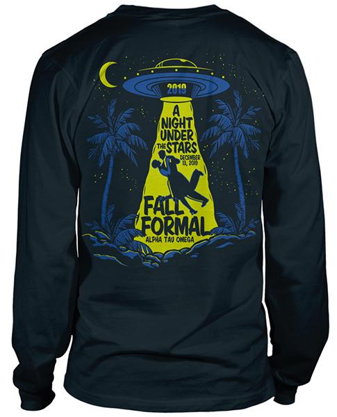 Alpha Tau Omega Formal Shirt with UFO