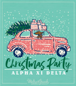 Alpha Xi Delta Christmas Party Shirt