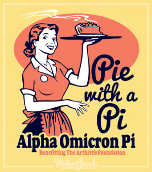 AOPi Pie with a Pie Shirt