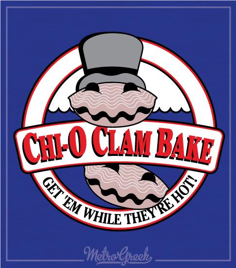 Chi Omega Clam Bake Shirt