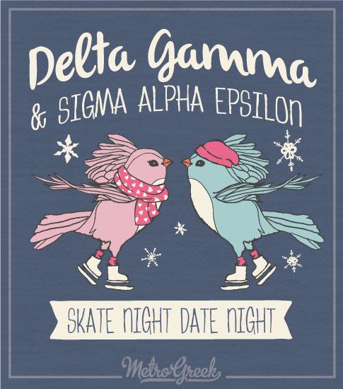 Delta Gamma Skate Night Shirt