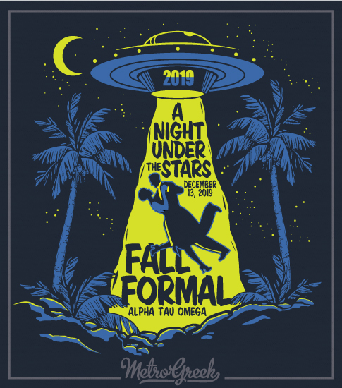 6507 Fall Formal Fraternity Shirt with UFO