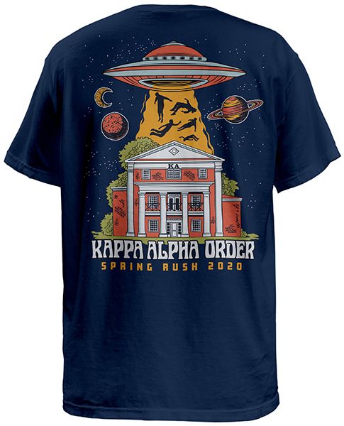 Kappa Alpha Rush Shirt With UFO