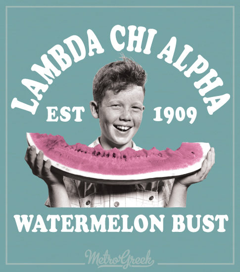 Lambda Chi Watermelon Bust Shirt