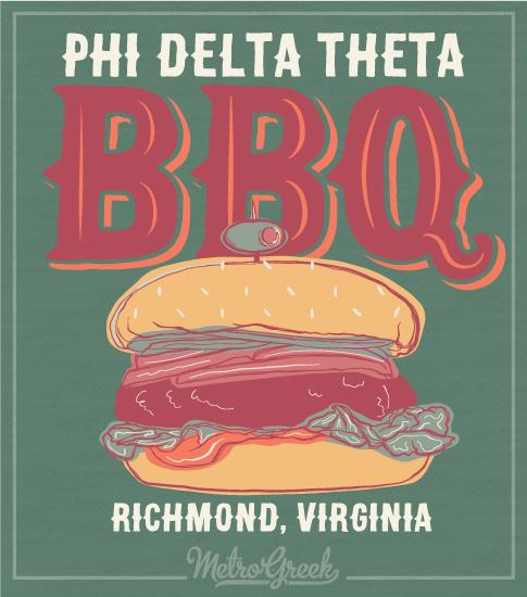 Phi Delta theta Hamburger BBQ Shirt