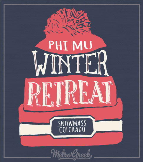 Phi Mu Winter Retreat Shirt