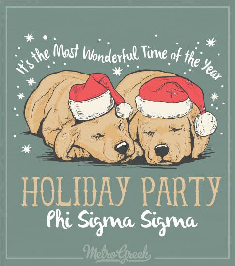 Phi Sigma Sigma Christmas Party Shirt