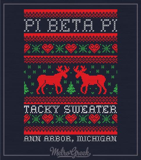 Pi Phi Tacky Sweater Christmas Shirt