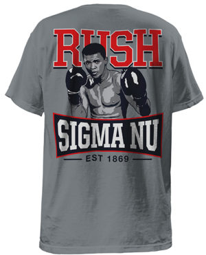 Sigma Nu Rush Shirt with Ali