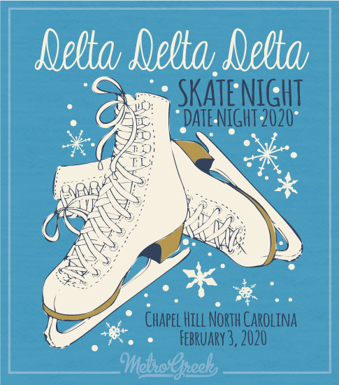 Tri Delta Skate Party Shirt