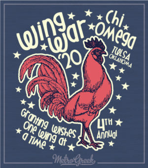 Chi Omega Wing Wars Shirt