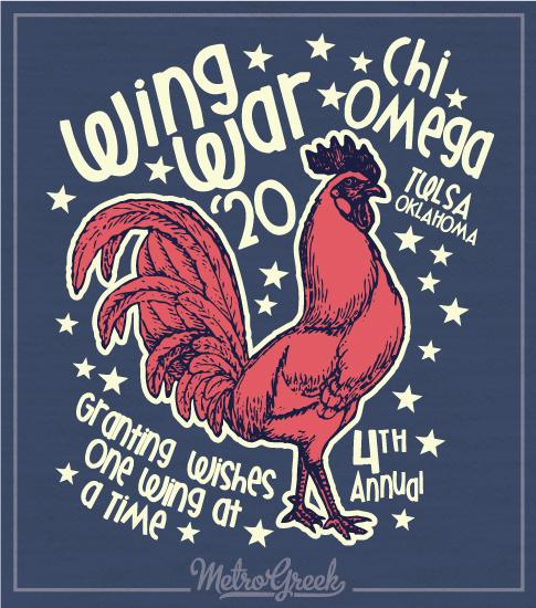 Chi Omega Wing Wars Shirt