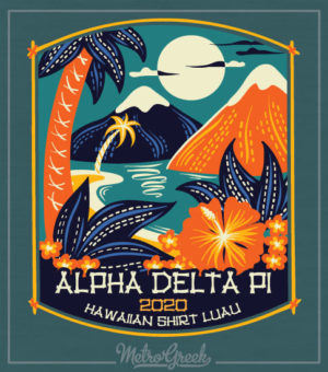 Alpha Delta Pi Hawaiian Luau Shirt