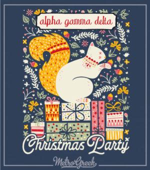 Alpha Gamma Delta Christmas Squirrel Shirt