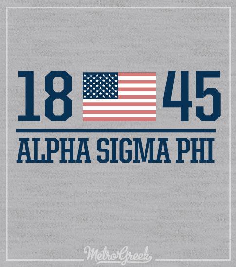 Alpha Sigma Phi Rush Shirt Flag