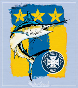 Alpha Tau Omega Shirt Marlin and Flag