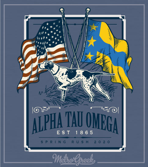 Alpha Tau Omega Rush Shirt With Dog