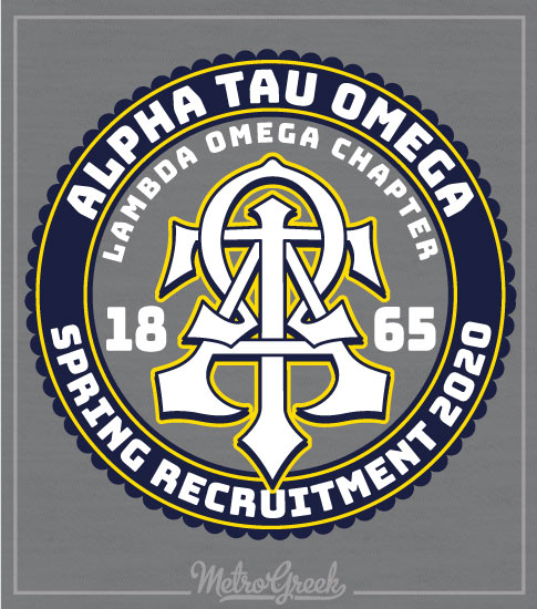 Alpha Tau Omega Rush Shirt Interlocking Letters