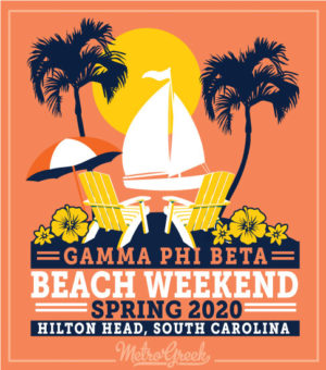 Beach Weekend Shirt Gamma Phi Beta