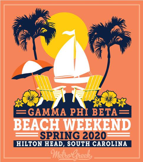 Beach Weekend Shirt Gamma Phi Beta