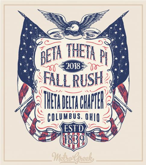 Beta Rush Shirt American Flags