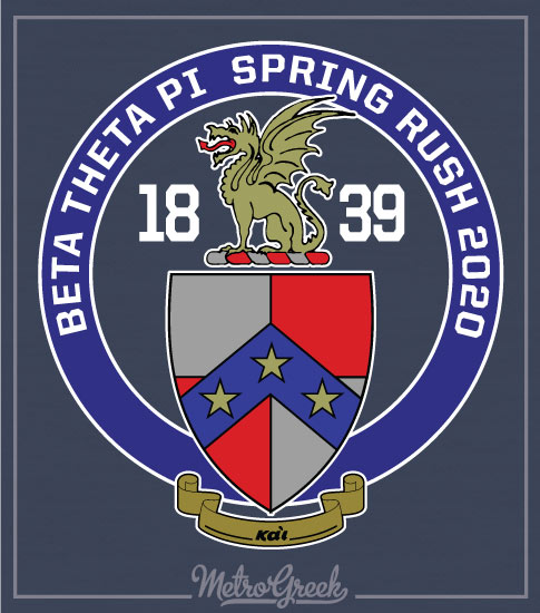 Beta Theta Pi Fraternity Crest Shirt