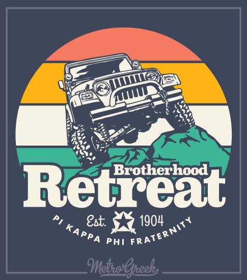 Brotherhood Retreat Shirt Pi Kappa Phi Jeep