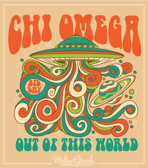 Chi Omega Bid Day Shirt UFO