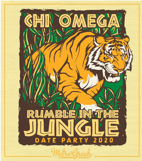 Chi Omega Rumble in the Jungle shirt