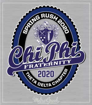 Chi Phi Fraternity Rush Shirt Label