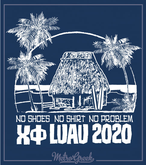 Chi Phi Luau Beach Hut Shirt