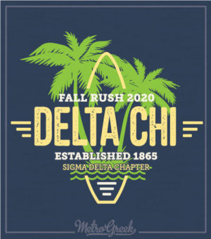 Delta Chi Rush Shirt Retro Surf