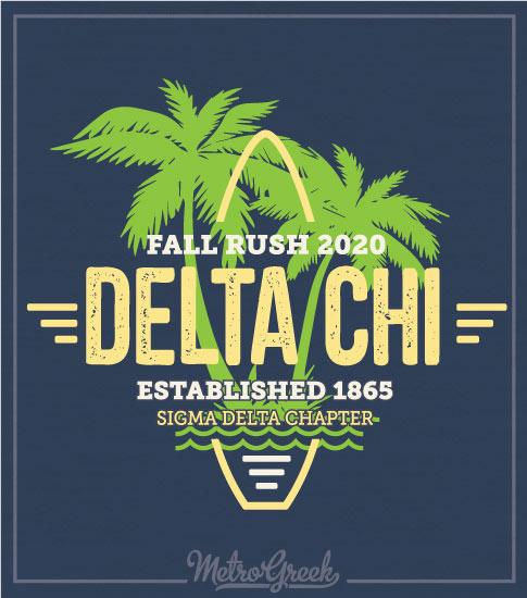 Delta Chi Rush Shirt Retro Surf